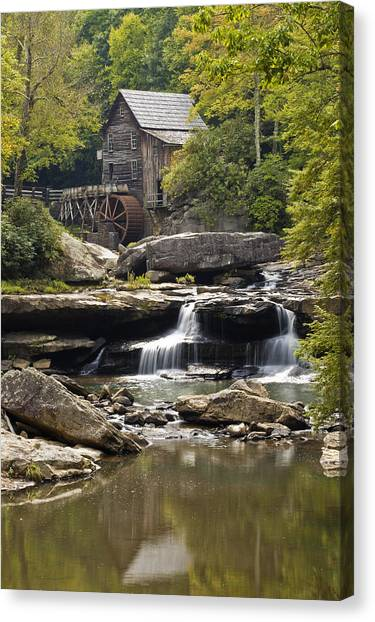 Grist Mill No. 1 Canvas Print by Harry H Hicklin