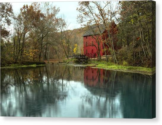 Grist Mill Wreflections Canvas Print
