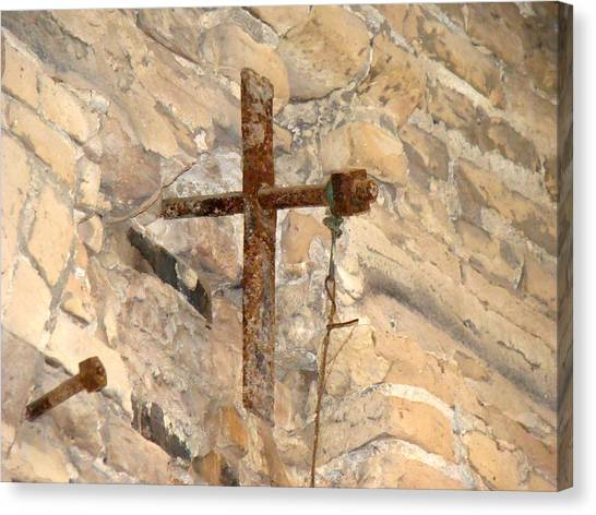 Gristmill Cross Two Canvas Print by Ana Villaronga