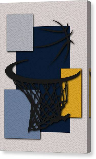 Memphis Grizzlies Canvas Print - Grizzlies Hoop by Joe Hamilton