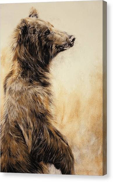 Wild Canvas Print - Grizzly Bear 2 by Odile Kidd