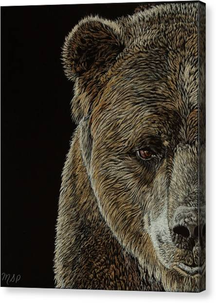 Grizzly Eye Canvas Print