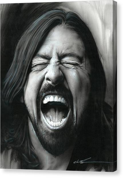 Nirvana Canvas Print - Grohl In Black IIi by Christian Chapman Art