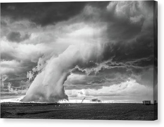 Groom Storm Bw Canvas Print