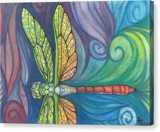 Dragonfly Canvas Print - Groovy Dragonfly Spirit by Sarah Jane