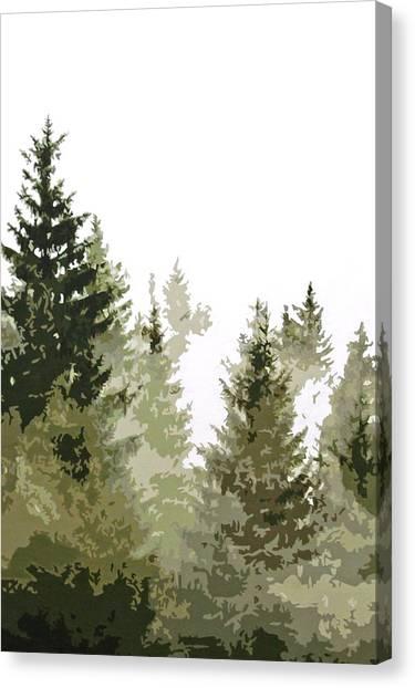 Green Camo Canvas Print - Gros Ventre Smoke by Boughton Walden