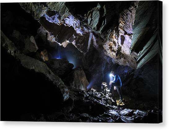 Caverns Canvas Print - Grotta Del Pugnetto by Marco Barone