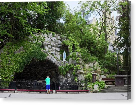 Grotto Of Our Lady Of Lourdes Canvas Print