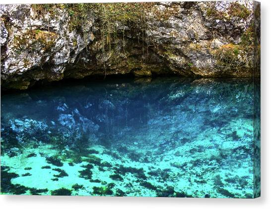Underwater Caves Canvas Print - Grotto With Christ  by Amy Sorvillo