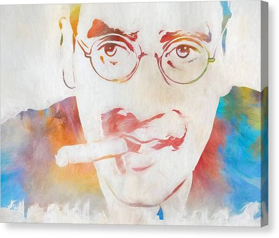 Johnny Carson Canvas Print - Groucho Marx by Dan Sproul