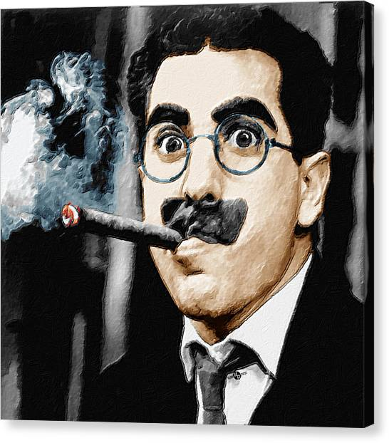Limelight Canvas Print - Groucho Marx Square  by Tony Rubino