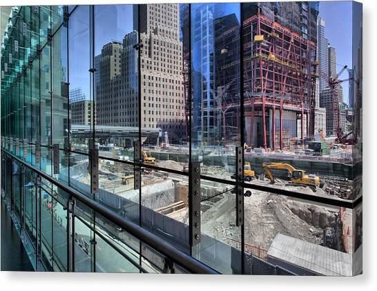 Ground Zero From World Financial Center Canvas Print by Robert Ullmann