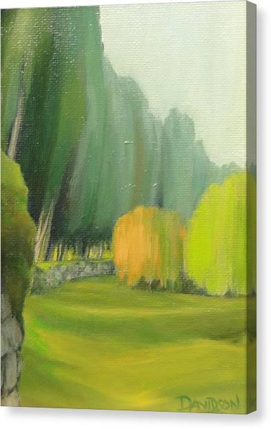 Grounds At The Villa Campestri Tuscany Canvas Print
