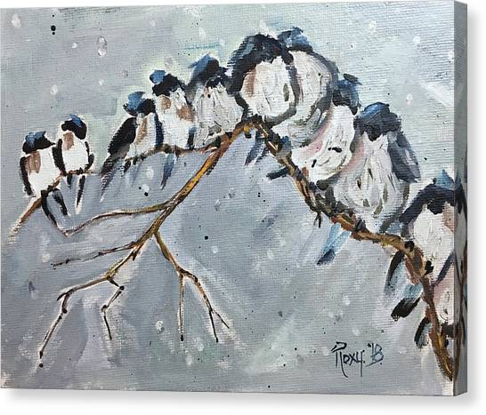 Wrens Canvas Print - Group Hug by Roxy Rich