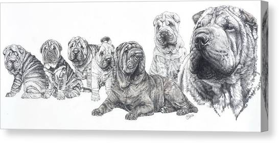 Mister Wrinkles And Family Canvas Print