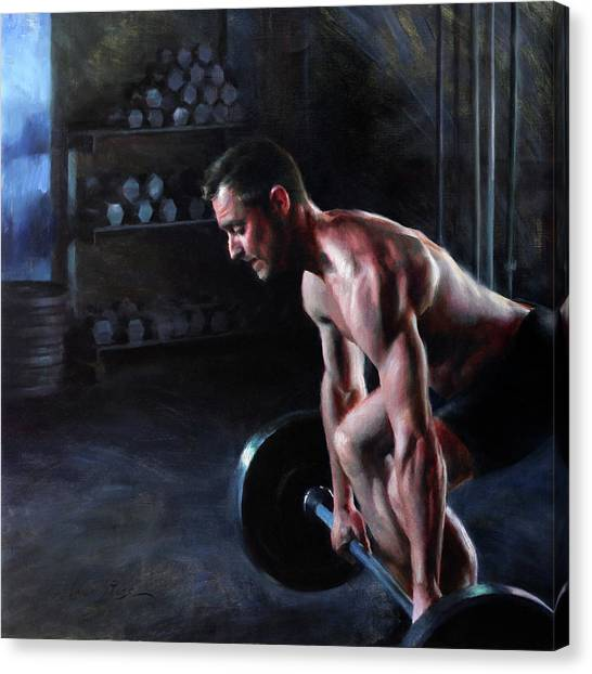 Gym Canvas Print - Growth In Solitude by Anna Rose Bain