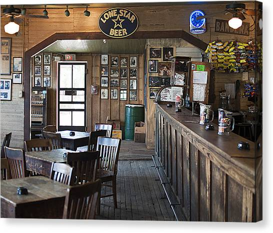 Gruene Hall Bar Canvas Print