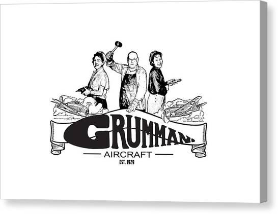 Grumman Aircraft Est 1929 Canvas Print
