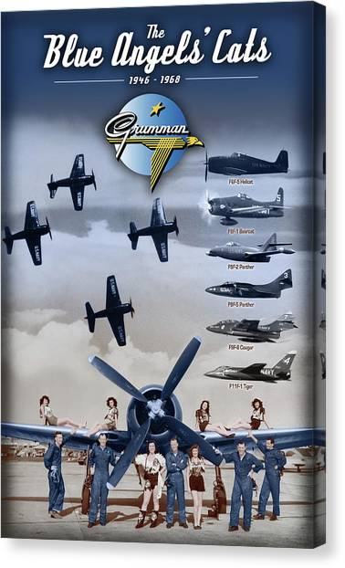 Grumman Blue Angels Cats Canvas Print