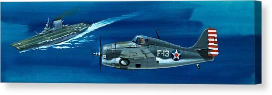 Aircraft Canvas Print - Grumman F4rf-3 Wildcat by Wilf Hardy