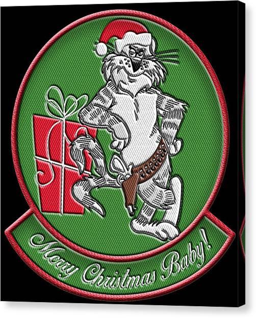 Grumman Merry Christmas Canvas Print
