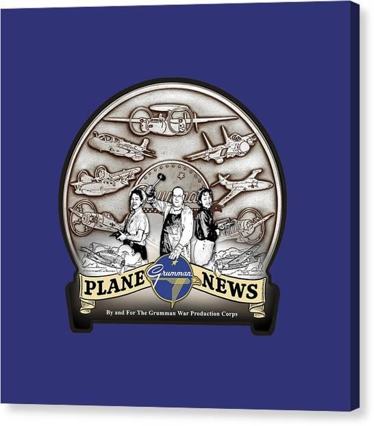 Grumman Plane News Canvas Print