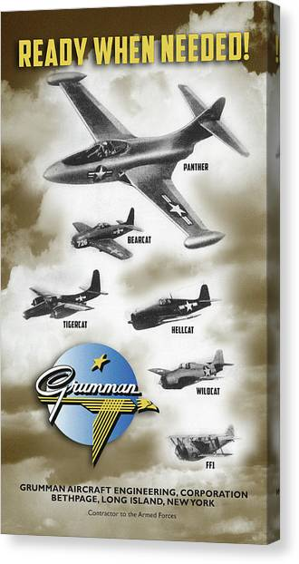 Grumman Ready When Needed Canvas Print