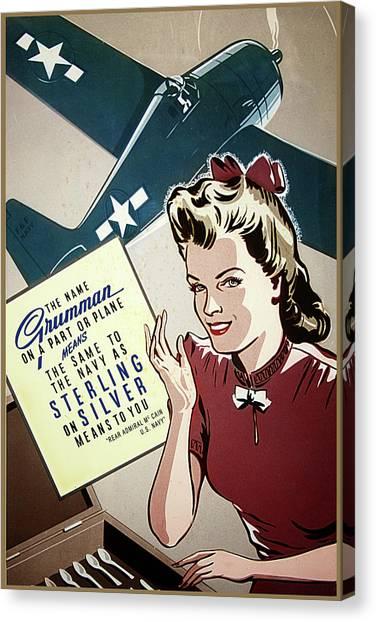 Grumman Sterling Poster Canvas Print