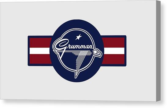 Grumman Stripes Canvas Print