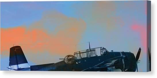 Canopy Canvas Print - Grumman Tbf Avenger by R Kyllo