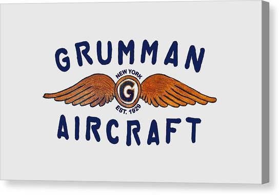 Grumman Wings Blue Canvas Print