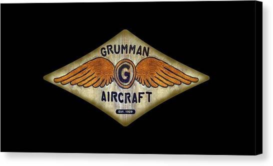 Grumman Wings Diamond Canvas Print