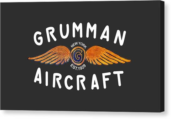 Grumman Wings Gold Canvas Print