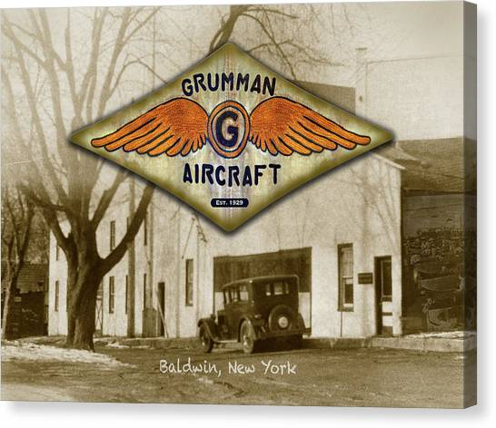 Grumman Wings Canvas Print