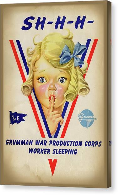 Grumman Worker Sleeping Poster Canvas Print