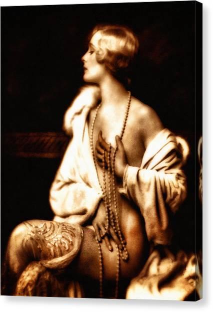 Grunge Goddess Canvas Print