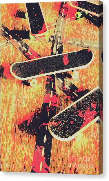 Skating Canvas Print - Grunge Skate Art by Jorgo Photography - Wall Art Gallery