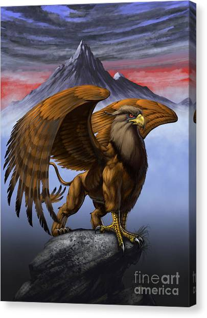 Griffons Canvas Print - Gryphon by Stanley Morrison