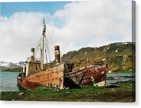 Grytviken Ghosts Canvas Print