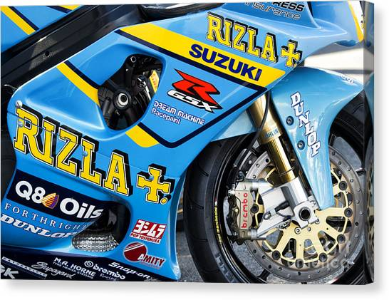Suzuki Canvas Print - Gsxr Racing  by Tim Gainey