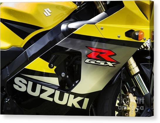 Suzuki Canvas Print - Gsxr by Tim Gainey