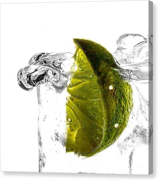 Gin Canvas Print - G&t Anyone?  #photography by John Gwilliam