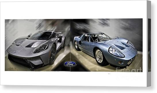 Ford Gt Canvas Print Gt Evolution By Tom Griffithe