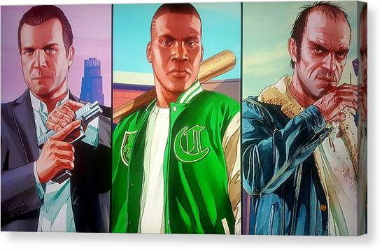 Grand Theft Auto Canvas Print - Gta V Wallpaper by Snowflake Obsidian