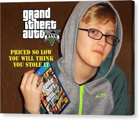 Grand Theft Auto Canvas Print - Gta5 Ad by Bruce Iorio