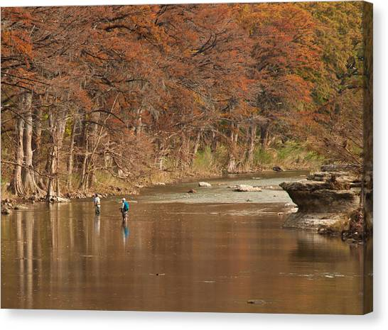 Guadalupe River Fly Fishing Canvas Print