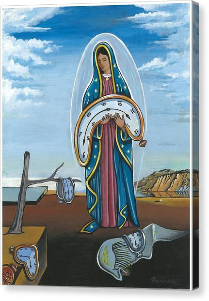 Guadalupe Visits Dali Canvas Print
