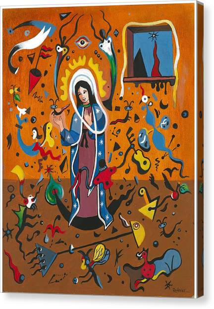 Guadalupe Visits Miro Canvas Print