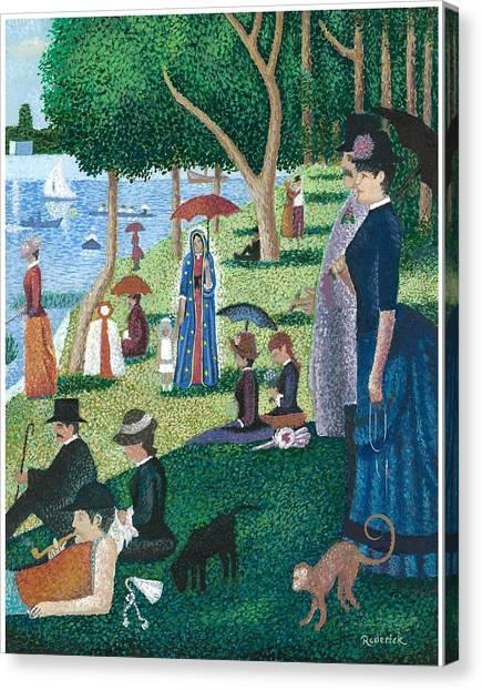 Guadalupe Visits Seuart Canvas Print