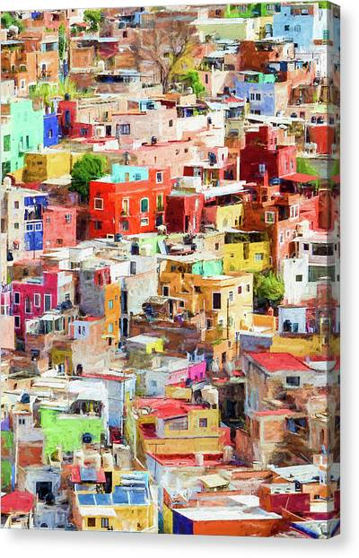 Canvas Print featuring the photograph Guanajuato 2, Mexico. by Rob Huntley
